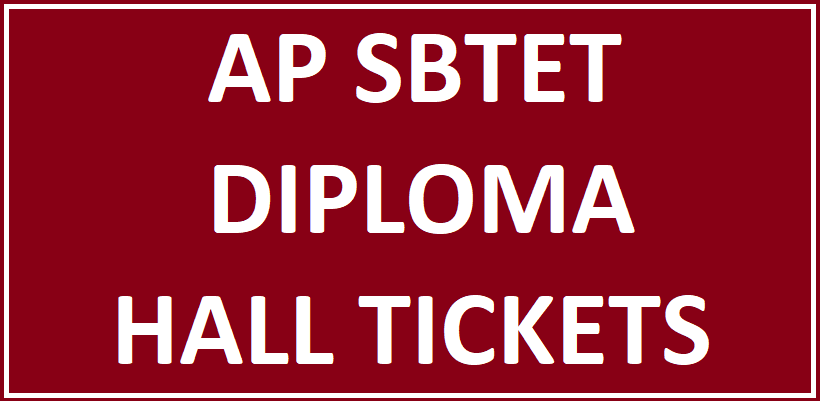 AP SBTET Diploma Hall Tickets 2018 - Download Now