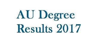 AU Degree 3rd Sem Results Nov 2017