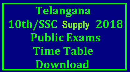 ts ssc supply time table