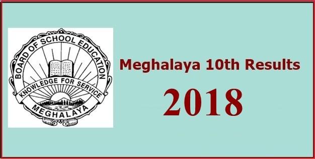 MBOSE SSLC Result 2018 - Meghalaya 10th Result